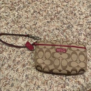 NEW Coach wristlet never used